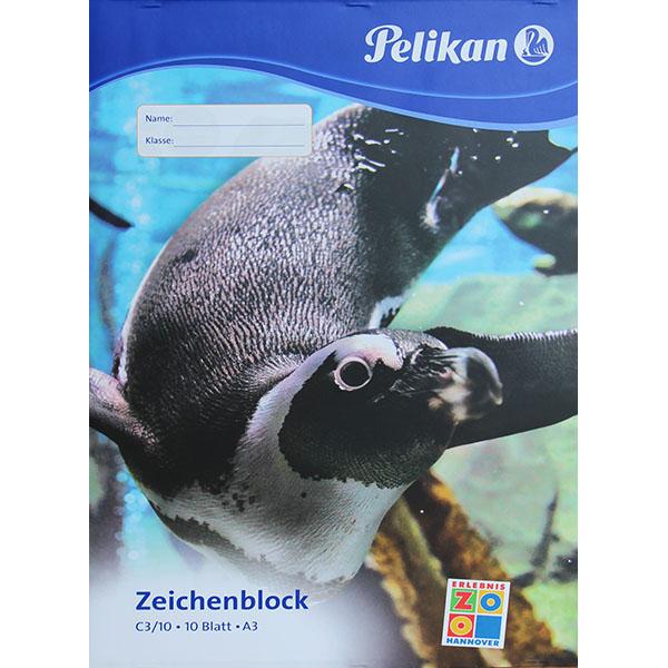 Pelikan Zeichenblock Pinguin DIN A3 100 g/qm 10 Blatt