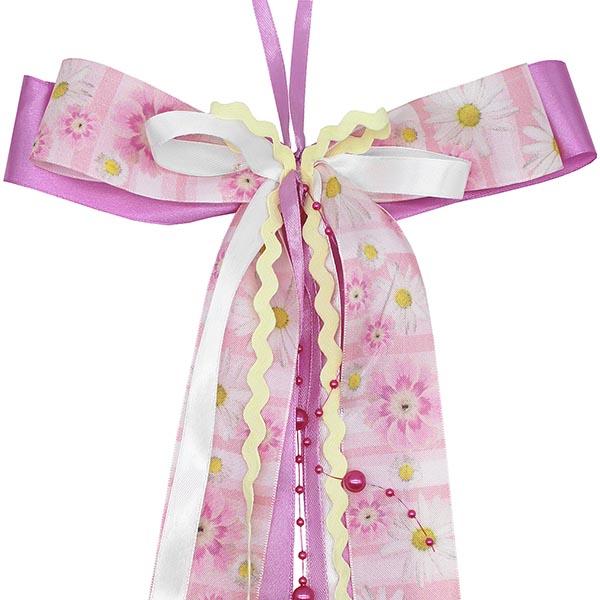 Schultüten Schleife Blumen Perlen rosa pink 50 cm