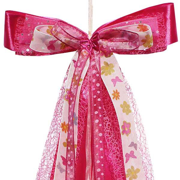Schultüten Schleife Butterfly Blumen pink 50 cm
