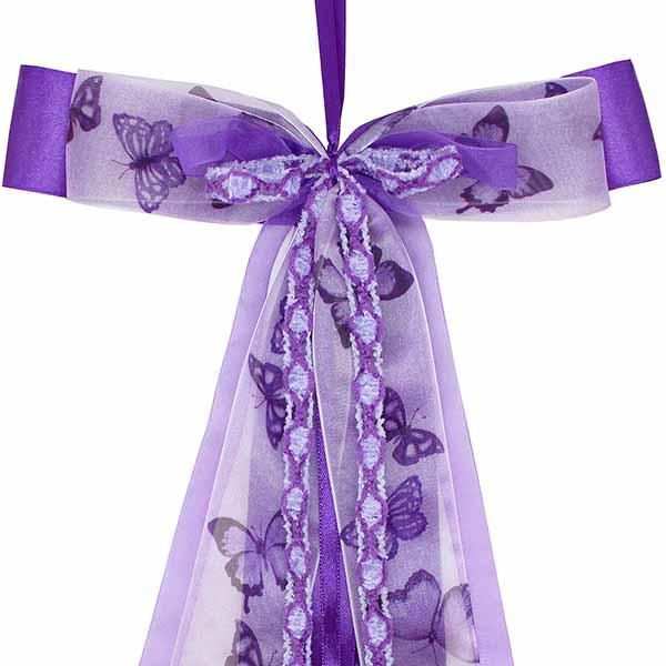 Schultüten Schleife Butterfly violett lila 50 cm
