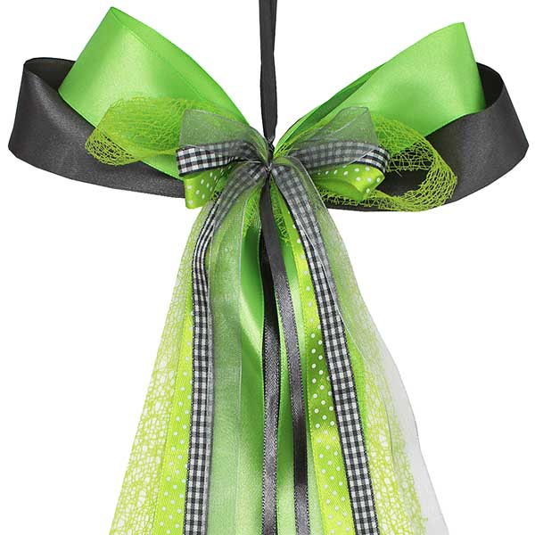 Schultüten Schleife Motorcross grün grau 50 cm