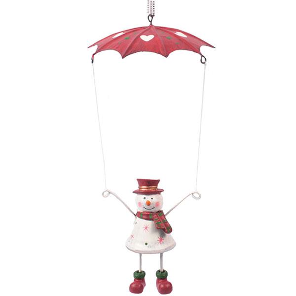 Fallschirm Schneemann Schwingfigur