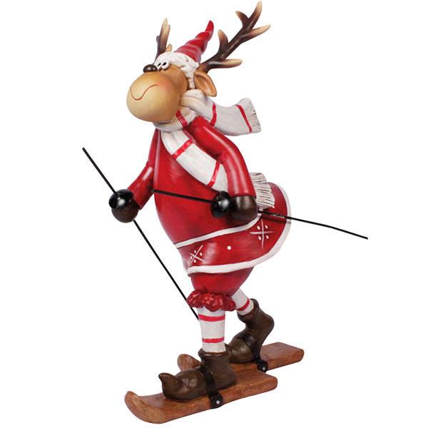 Skifahrer Elch Mädchen 14 cm