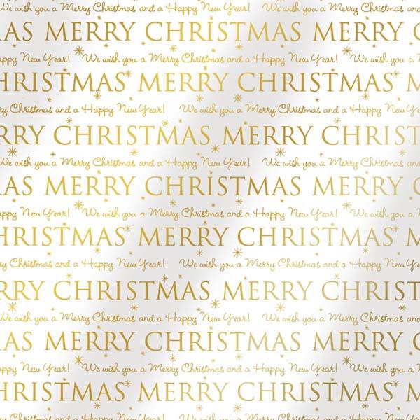 Susy Card Geschenkfolie Merry Christmas m² / € 1,60