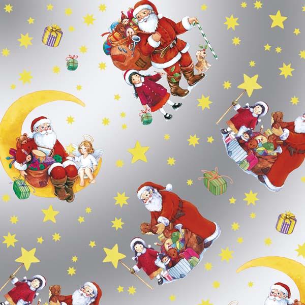 Susy Card Geschenkfolie Weihnachtsmann m² / € 1,60