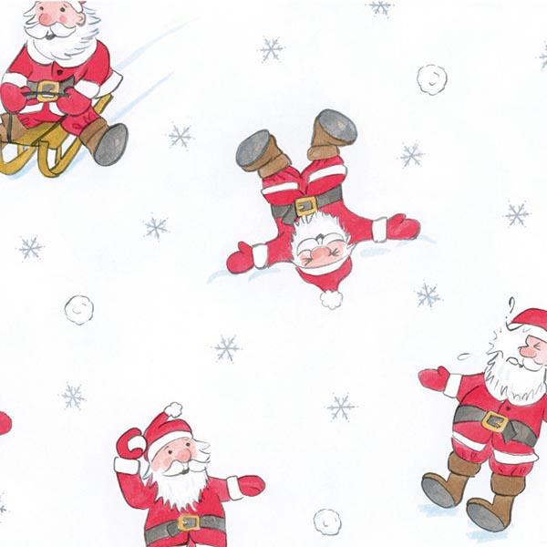 Susy Card Geschenkpapier Weihnachtsmann in Action m² / € 2,11