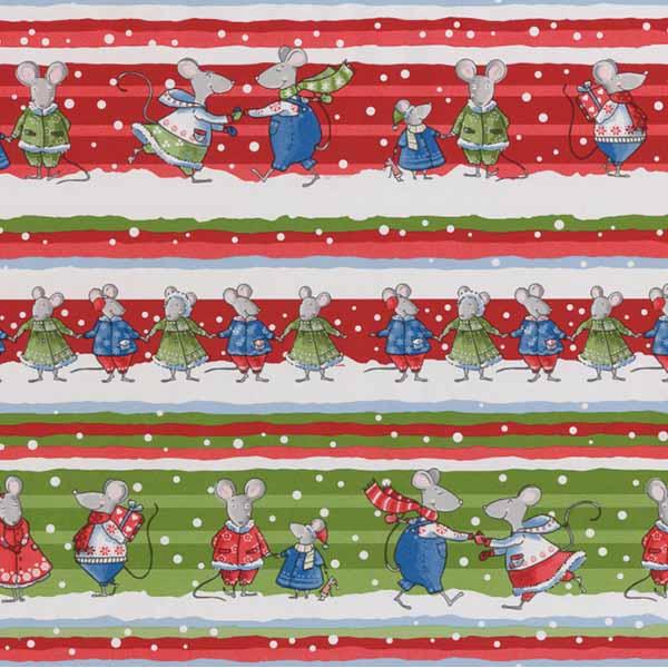 Susy Card Geschenkpapier Weihnachten Mäuse m² / € 2,11