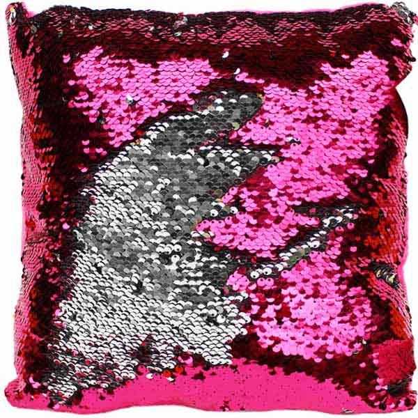 Kissen Pailletten pink silber Farbwechsel