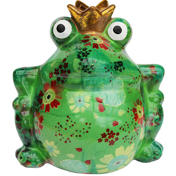 Spardose Froschkönig grün